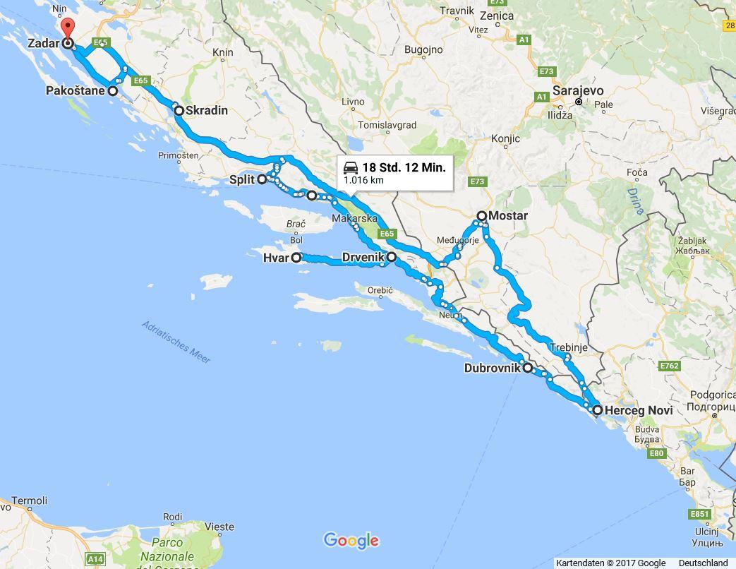 roadtrip deutschland kroatien