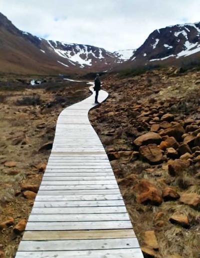 Wanderung in den Tablelands im Gros Morne Nationalpark in Neufundland
