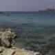 Blick auf das glasklare Meer am Cala Comte.