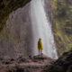 Die Moul Falls im Wells Gray Provincial Park.